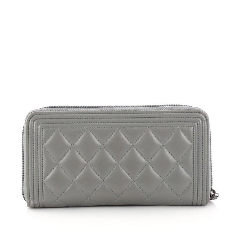 9c275f641995 L Gusset Zip Wallet Chanel Grey | Stanford Center for Opportunity ...
