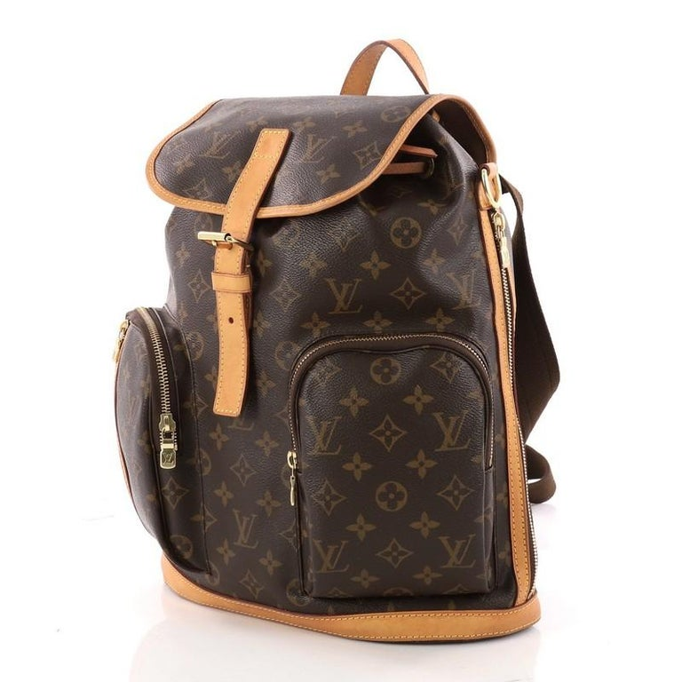 Louis Vuitton Bosphore Backpack Monogram Canvas In Good Condition For Sale In New York, NY