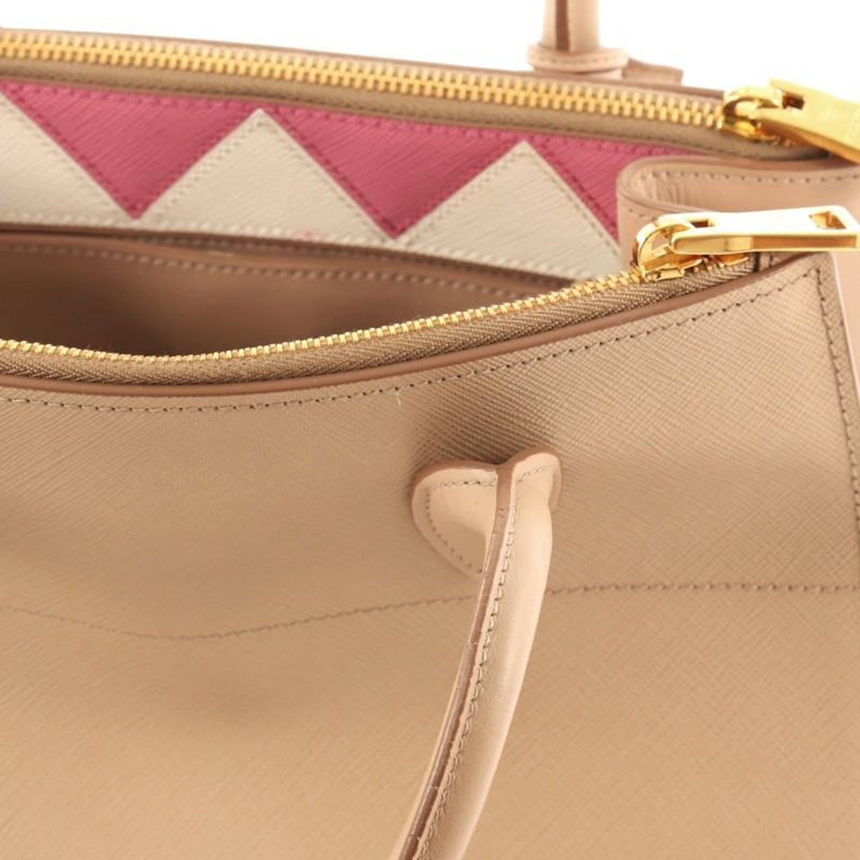 10dabe9513baf1 Prada Esplanade Handbag Greca Saffiano with City Calf Medium at 1stdibs