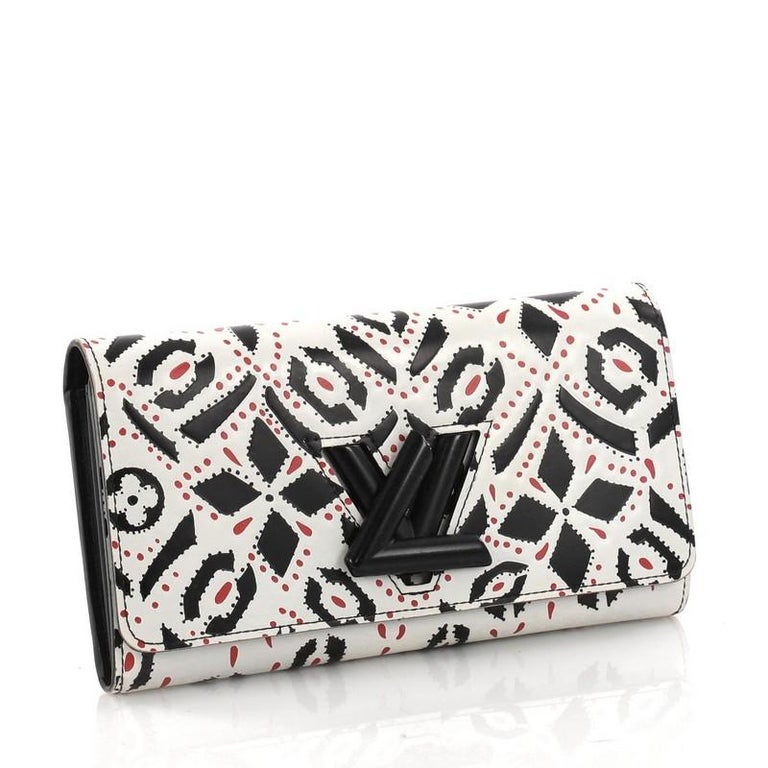 Beige Louis Vuitton Twist Wallet Limited Edition Graphic Leather For Sale