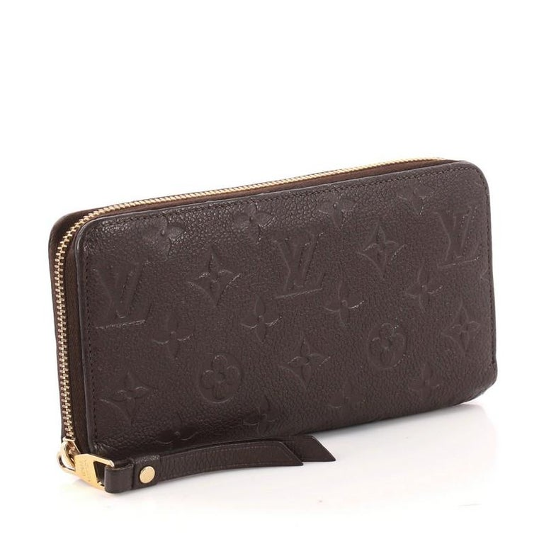 Black Louis Vuitton Zippy Wallet Monogram Empreinte Leather For Sale 783a9ba94