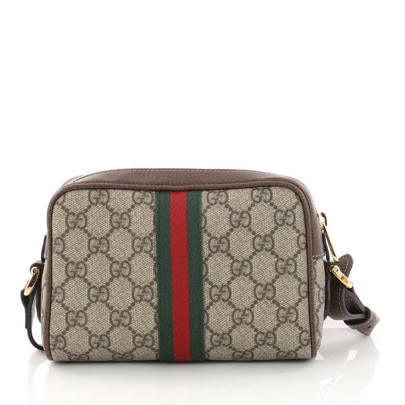 f7ea7c83be7c Gucci Ophidia Crossbody Bag GG Coated Canvas Mini at 1stdibs
