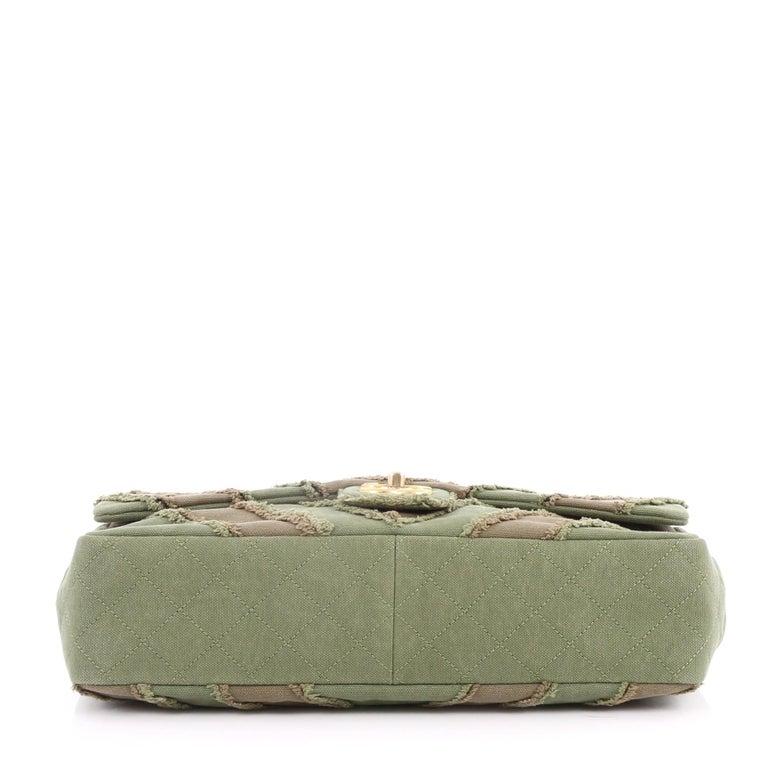 67e399e7c573 Women's Chanel CC Flap Bag Chevron Canvas Patchwork Maxi For Sale