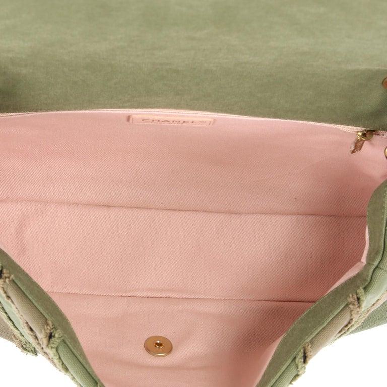 8d1dbccd885d Chanel CC Flap Bag Chevron Canvas Patchwork Maxi For Sale 1