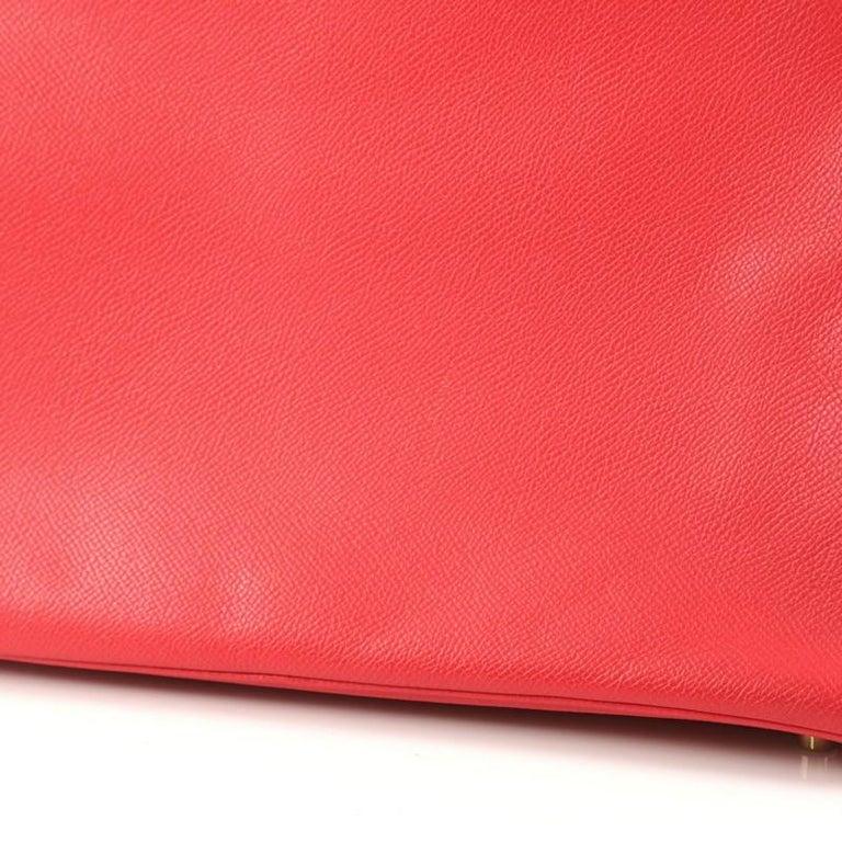 Hermes Birkin Handbag Rouge Vif Epsom with Gold Hardware 35 For Sale 3