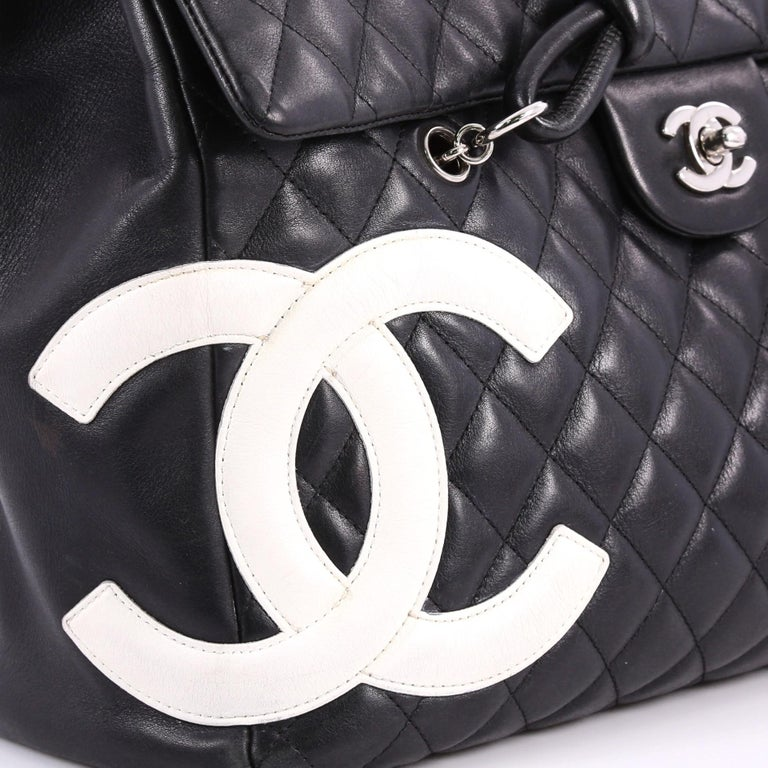 c9e0abe999c9 Chanel Cambon Flap Tote Quilted Leather Large For Sale 2