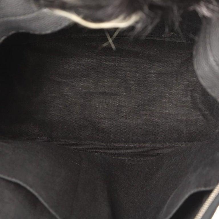 783f520ee3b8 Fendi Selleria Monster Backpack Leather and Fur Medium at 1stdibs