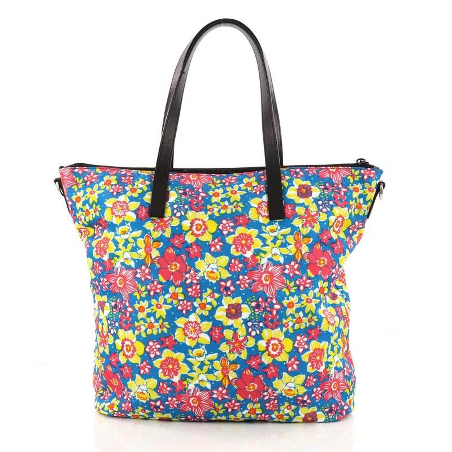 282f739ab8c4 Prada Convertible Tote Printed Tessuto With Saffiano Large For Sale at  1stdibs