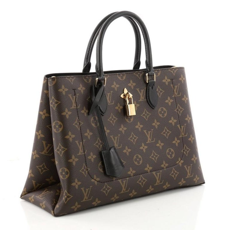 5002c10238396 Black Louis Vuitton Flower Tote Monogram Canvas For Sale