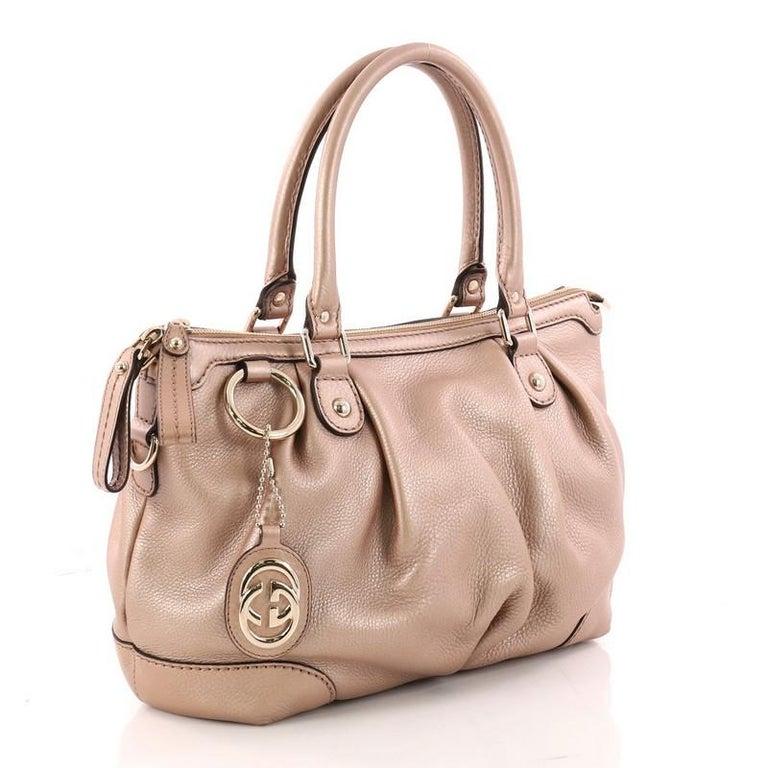 a9fab78014e8 Beige Gucci Sukey Top Handle Tote Guccissima Leather Medium For Sale