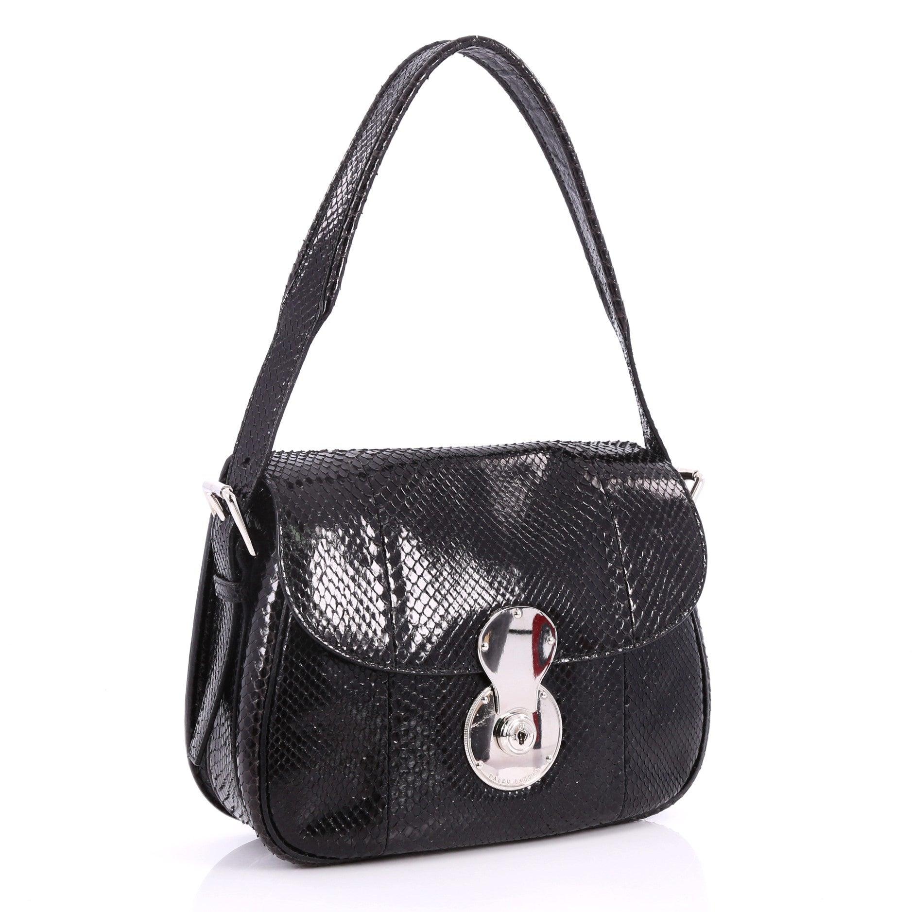 Ralph Lauren Collection Ricky Convertible Flap Bag Python Medium at 1stdibs dd926d5c21