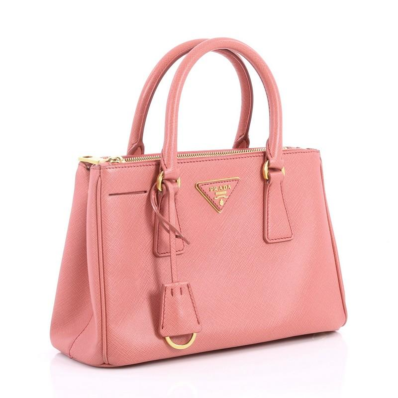 58da329d065ae1 ... coupon code for pink prada double zip lux tote saffiano leather mini  for sale 69670 2a392