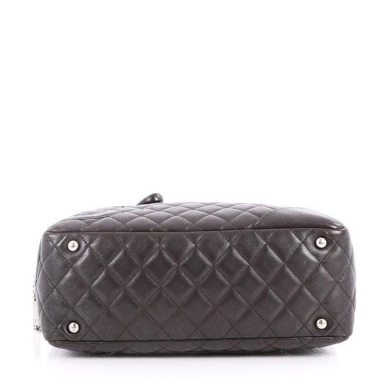 64955ee9c91c4d Women's or Men's Chanel Cambon Bowler Bag Quilted Leather Medium For Sale
