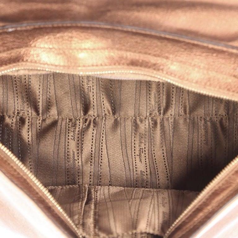 3d70e3ee94 Salvatore Ferragamo Sofia Satchel Pebbled Leather Large For Sale at ...