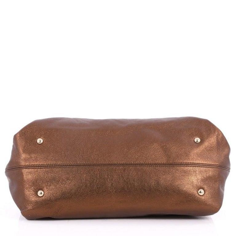 70105e87da Women s or Men s Salvatore Ferragamo Sofia Satchel Pebbled Leather Large  For Sale