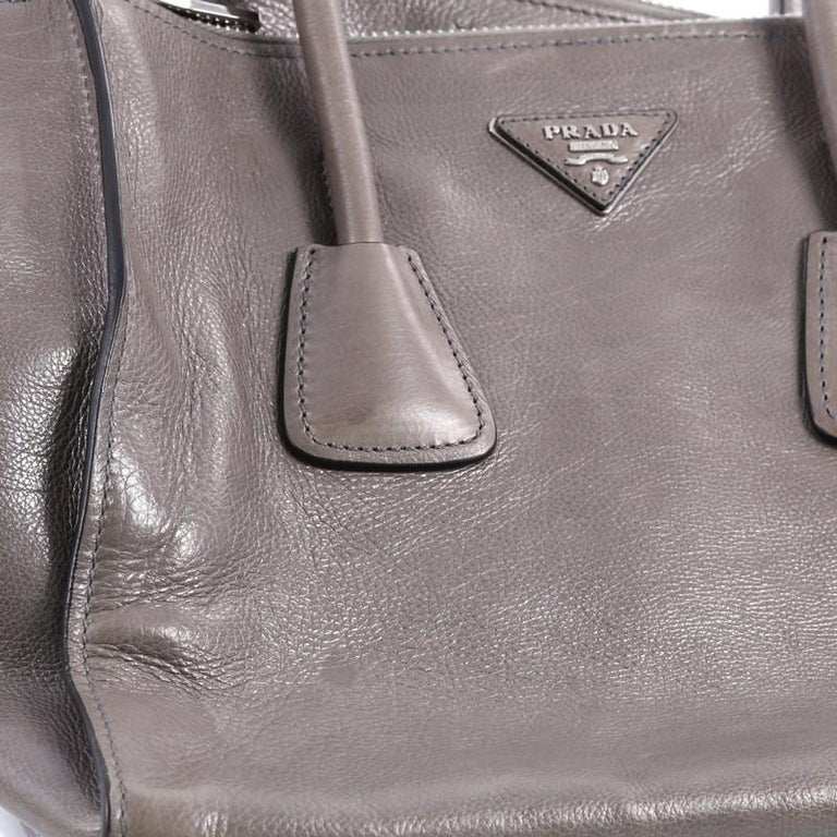 a61375b082b9c9 Prada Twin Pocket Tote Glace Calf Small For Sale 4