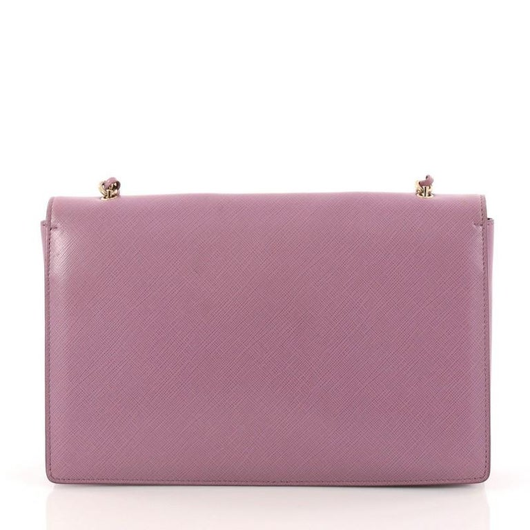 Salvatore Ferragamo Ginny Crossbody Bag Saffiano Leather Medium In Good  Condition For Sale In New York d3f68c2b0b723