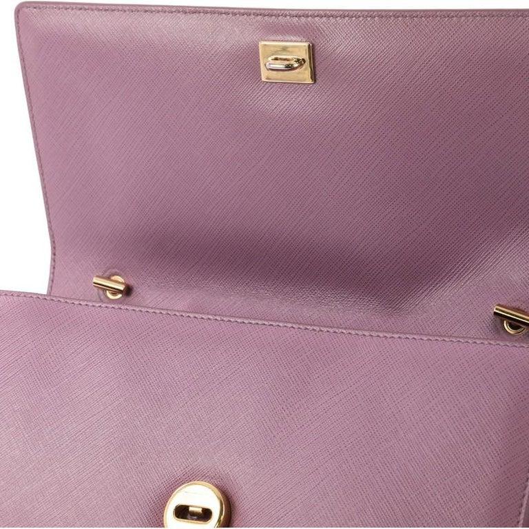 Salvatore Ferragamo Ginny Crossbody Bag Saffiano Leather Medium For Sale 1 8928f5ecd3cae