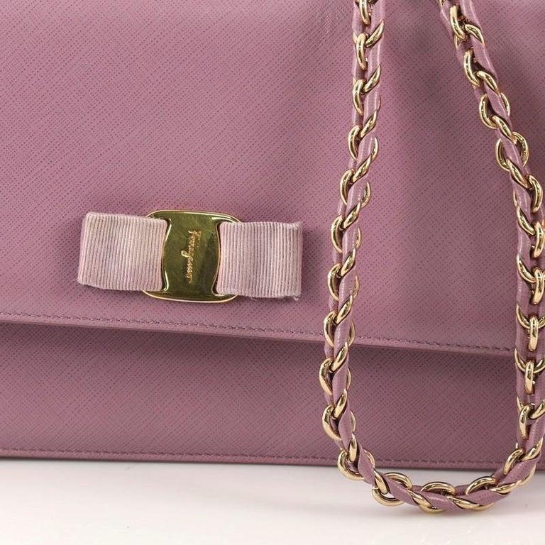 Salvatore Ferragamo Ginny Crossbody Bag Saffiano Leather Medium For Sale 5 42ea009b075ca