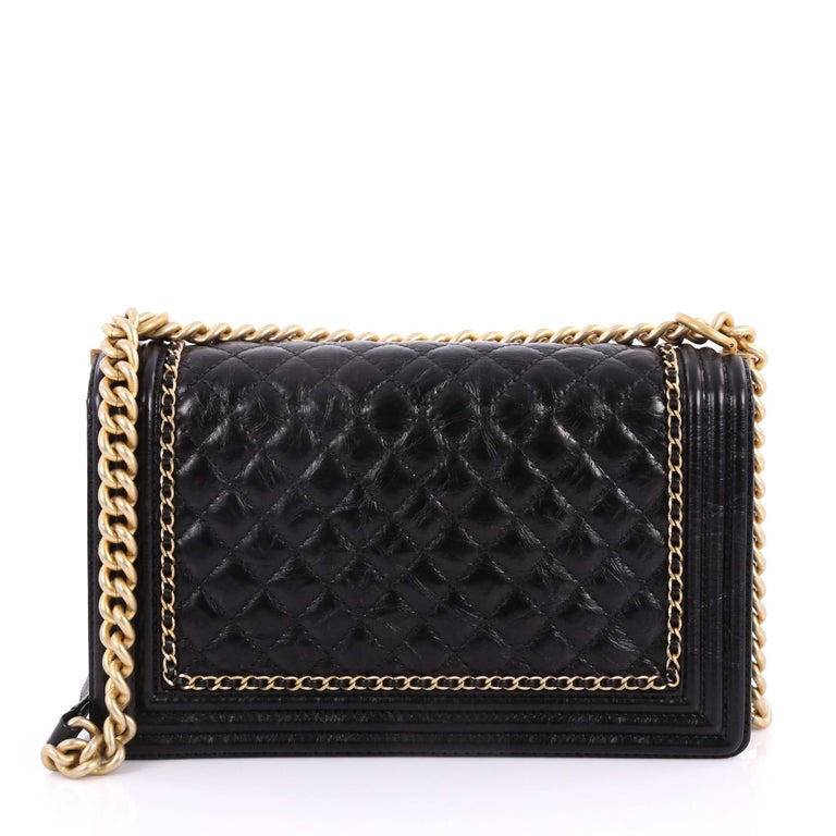 4172702fb164 Chanel Jacket Boy Flap Bag Quilted Aged Calfskin New Medium In Excellent  Condition For Sale In