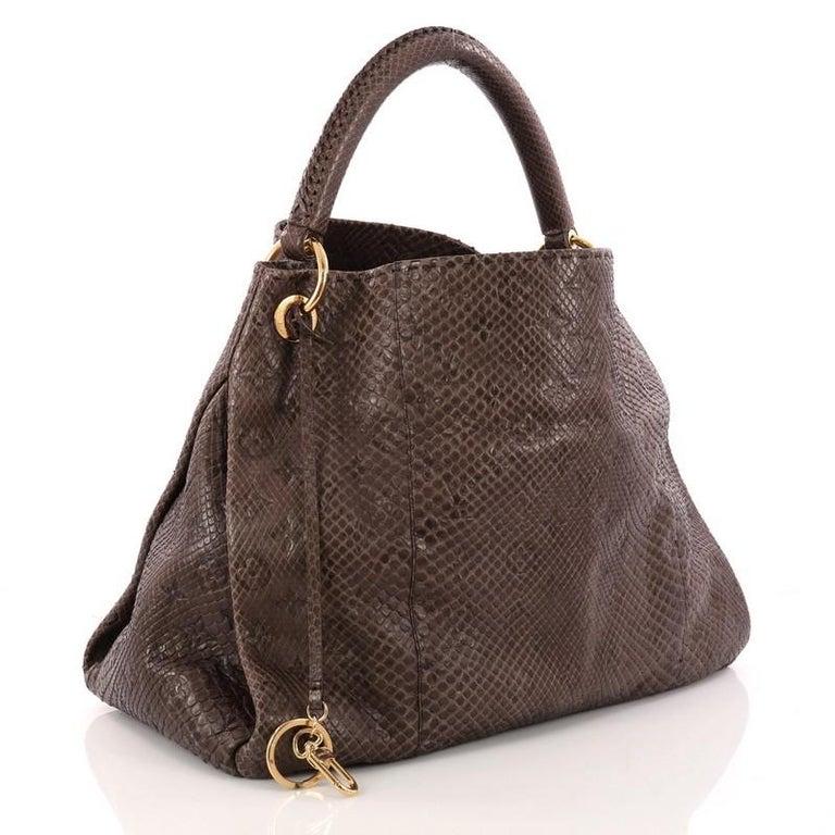 Black Louis Vuitton Artsy Handbag Monogram Embossed Python MM For Sale 2b670fd709f42