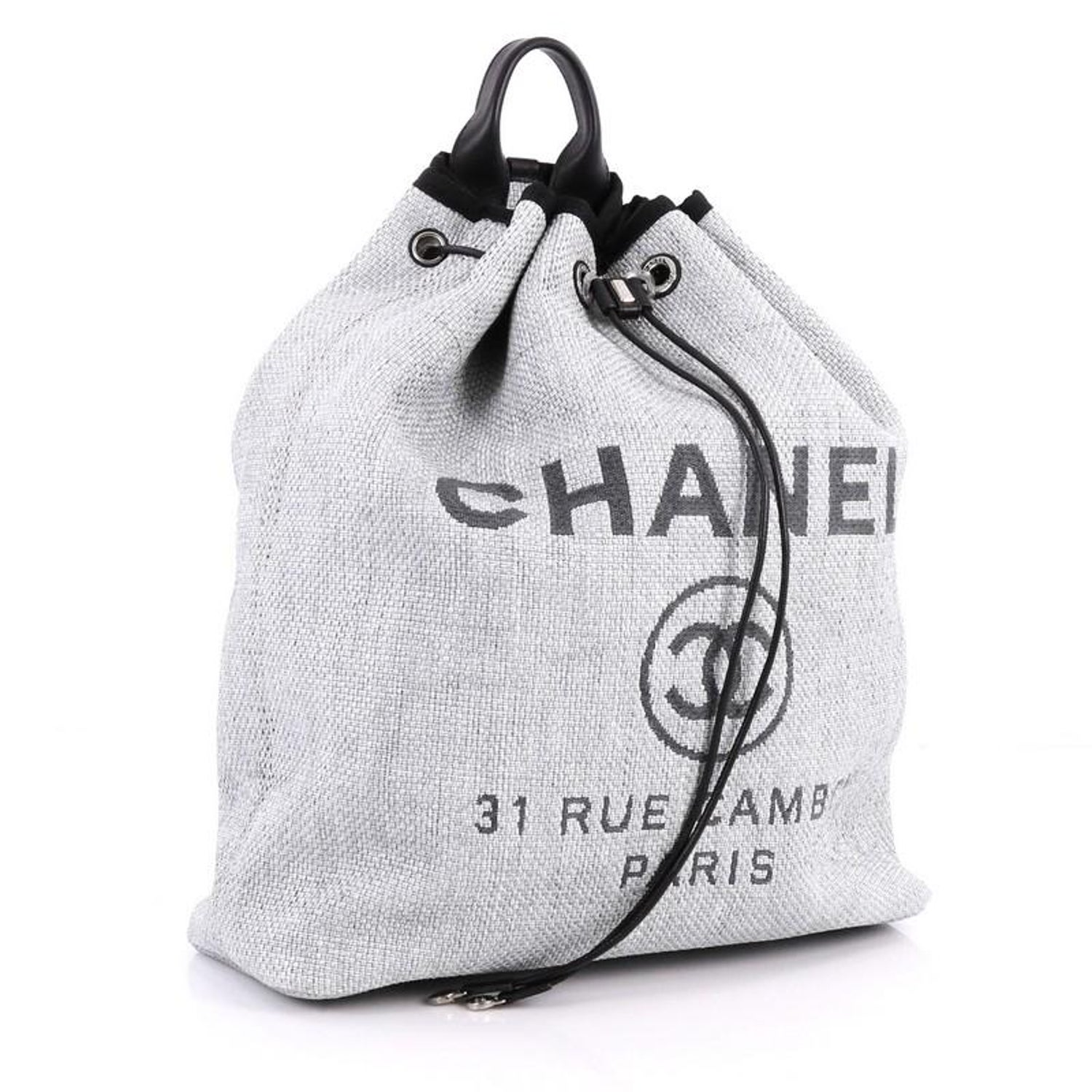 1838244cf Chanel Deauville Backpack Canvas Large at 1stdibs