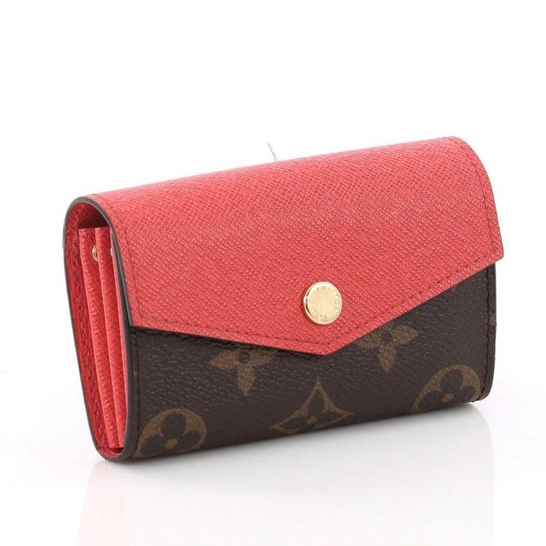 c218aeef93c9 Brown Louis Vuitton Sarah Multicartes Wallet Monogram Canvas For Sale