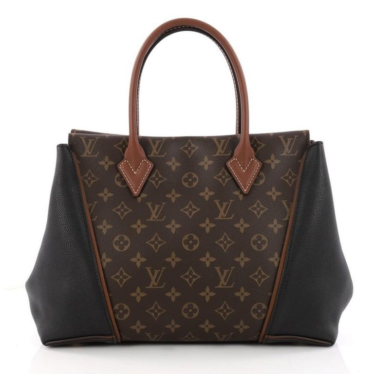 Louis Vuitton W Tote Monogram Canvas And Leather Pm In Good Condition For New