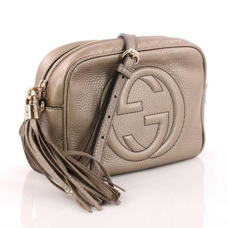 d301375c6a8406 Brown Gucci Soho Disco Crossbody Bag Leather Small For Sale