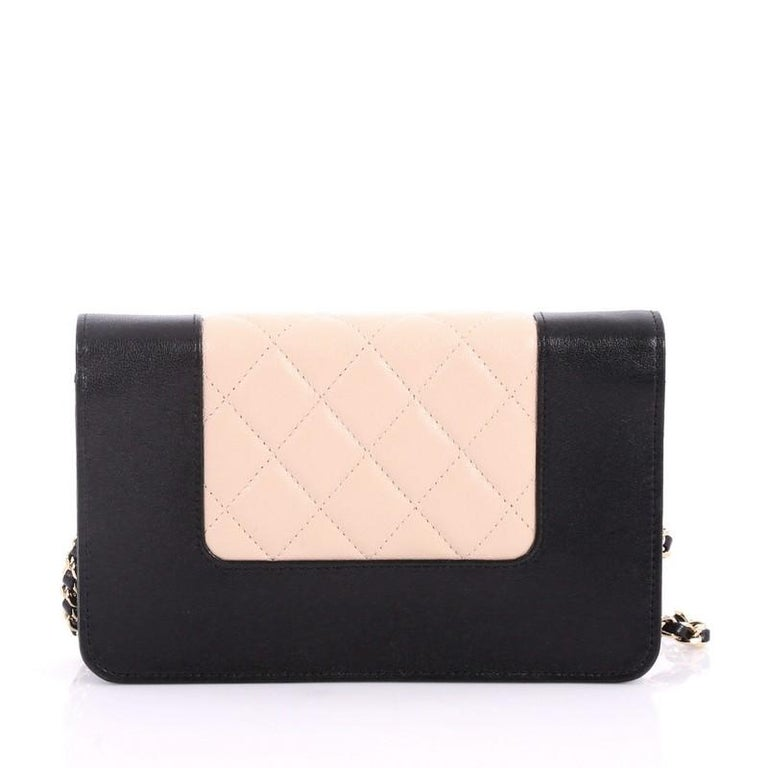 084fb3b586c9 Chanel Mademoiselle Vintage Wallet On Chain Quilted Sheepskin In Good  Condition For Sale In New York