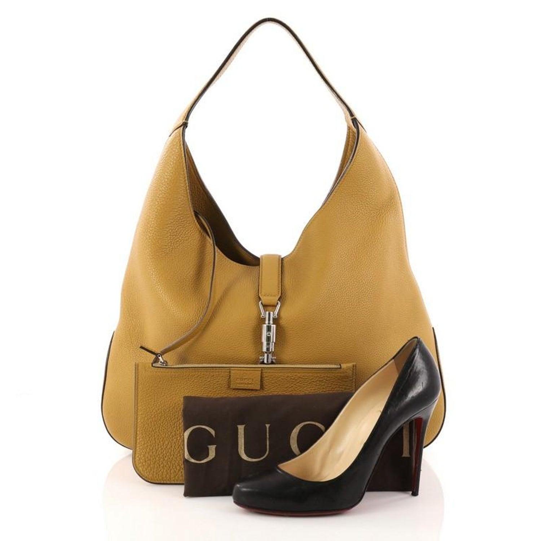 3970efda3dee0f Gucci Jackie Soft Hobo Leather at 1stdibs