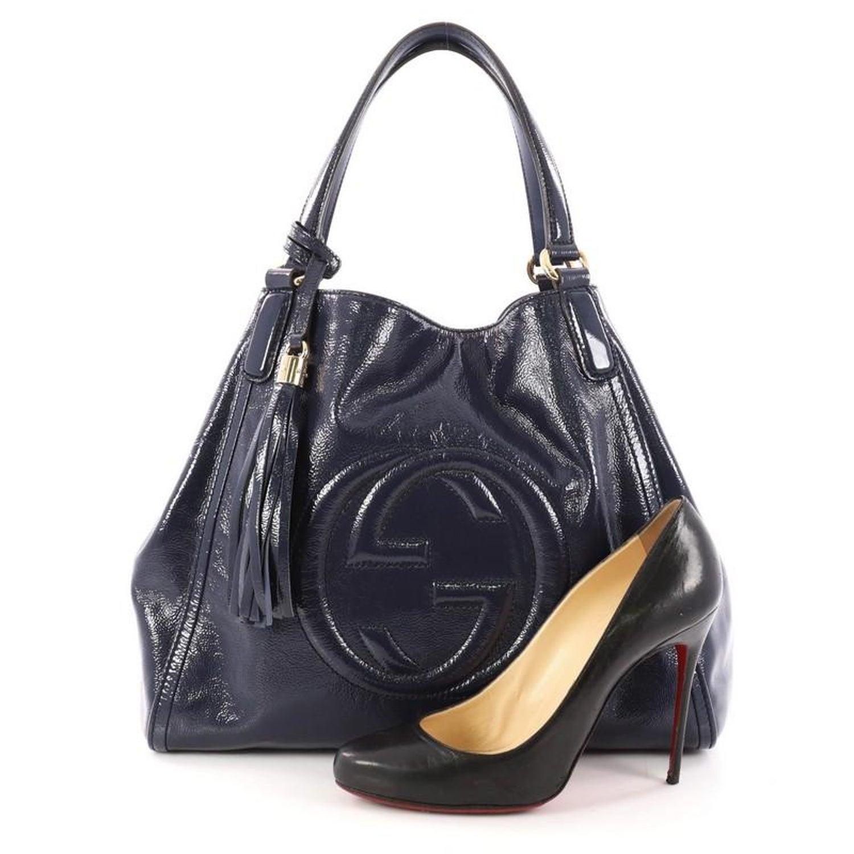 6b9e471845e Gucci Soho Shoulder Bag Patent Medium at 1stdibs