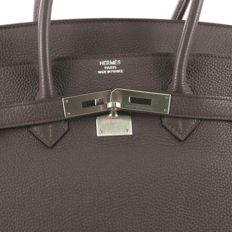 cb2e1206447e Hermes Birkin Handbag Grey Togo with Brushed Palladium Hardware 35 at  1stdibs