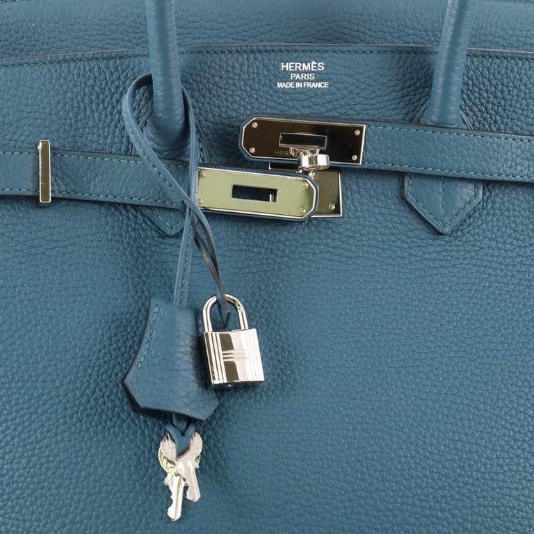 12f39a44ad28 Hermes Birkin Handbag Bleu Thalassa Togo with Palladium Hardware 35 For  Sale 1