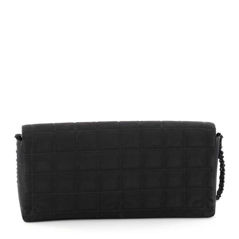 1da92538ec20 Chanel Travel Line Flap Bag Quilted Nylon East West at 1stdibs