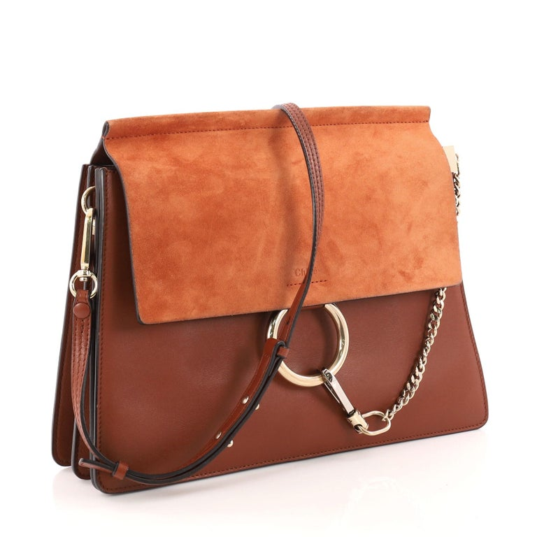 c540dff8922a7 Chloe Faye Leather and Suede Medium Shoulder Bag at 1stdibs