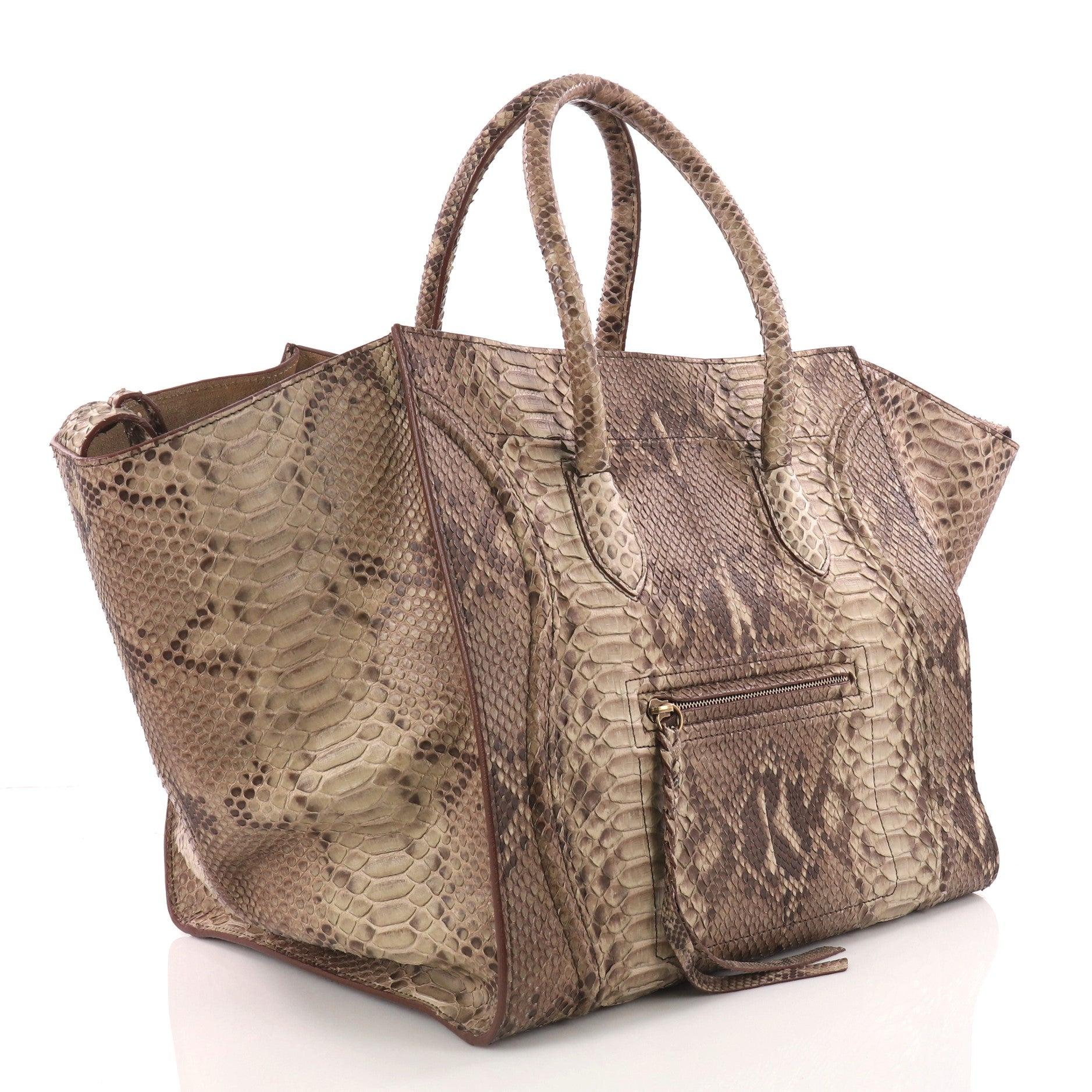 31462cbbf2 Celine Phantom Handbag Python Large at 1stdibs