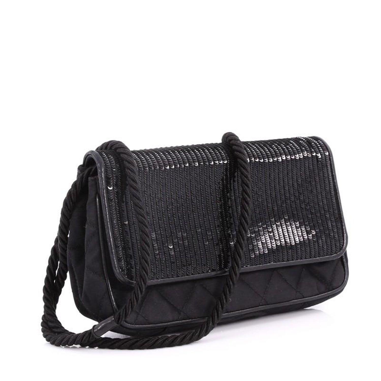 f45793ac5502 Chanel Vintage Flap Shoulder Bag Sequin Embellished Satin Small at 1stdibs