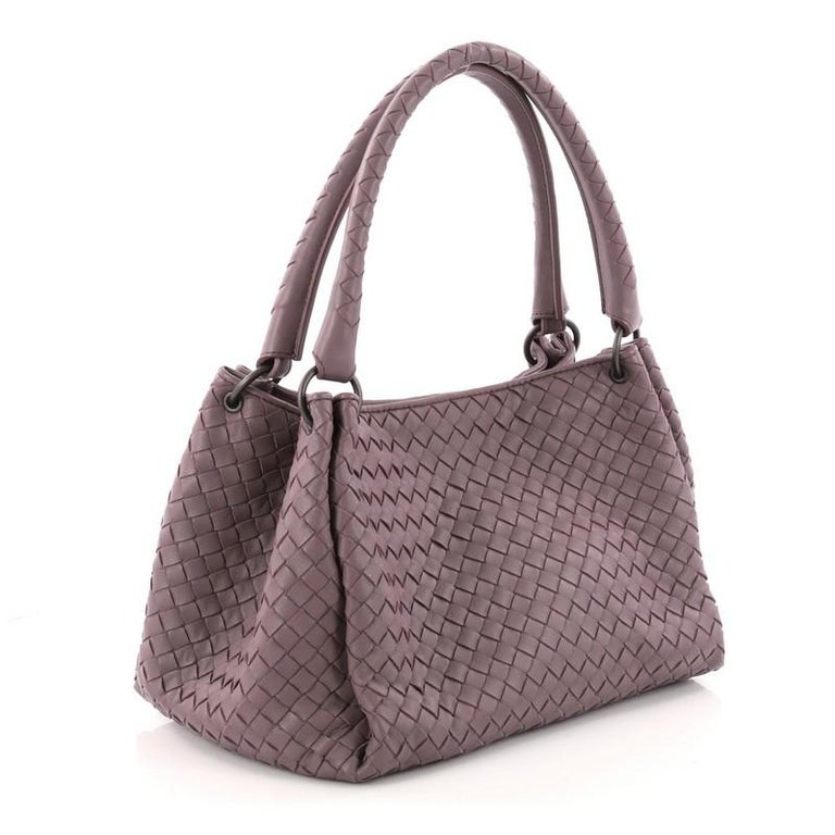 29985bfac9 Gray Bottega Veneta Parachute Handbag Intrecciato Nappa Small For Sale