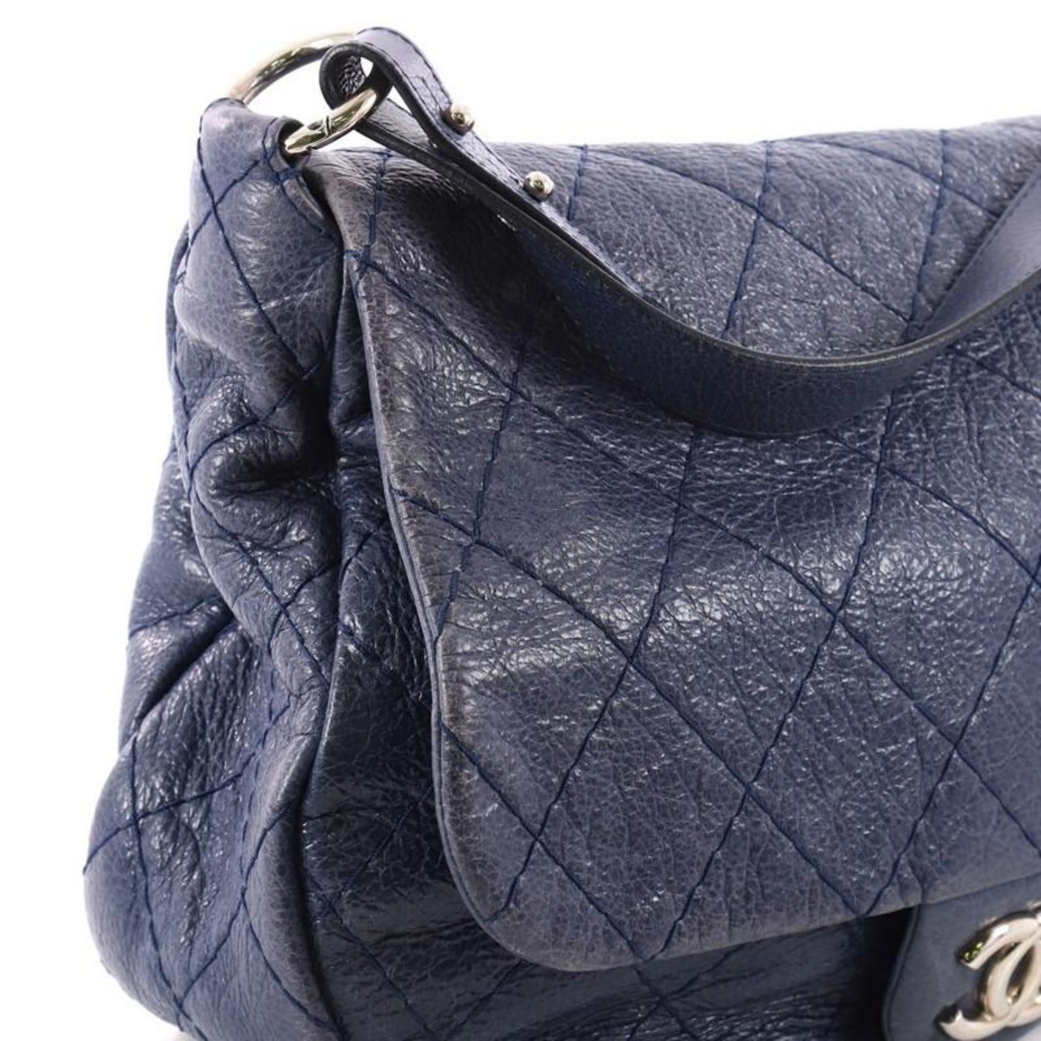 08ed1a8bb6ed Chanel On the Road Flap Bag Quilted Leather Large at 1stdibs