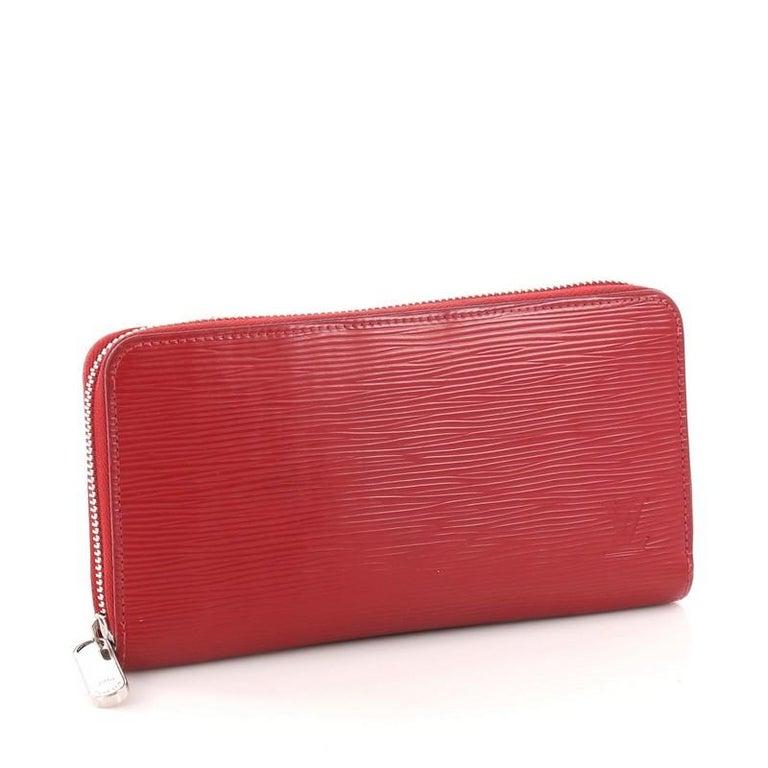 fc7ea1d434d0 Red Louis Vuitton Zippy Wallet Epi Leather For Sale