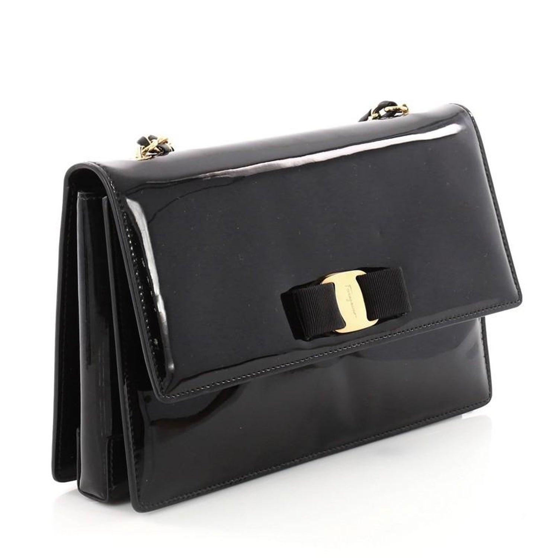 Salvatore Ferragamo Ginny Crossbody Bag Patent Medium at 1stdibs b9f637888ca4c