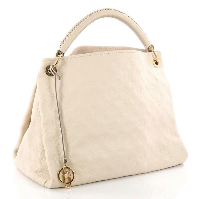 White Louis Vuitton Artsy Handbag Monogram Empreinte Leather Mm For