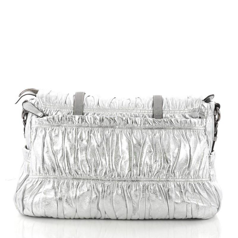 48a985265c13 ... sweden prada gaufre messenger bag nappa leather large for sale at  1stdibs 21c9e 86ed4