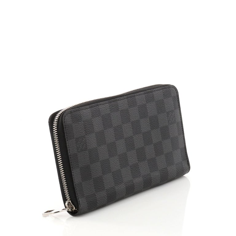 718e3fc144 Black Louis Vuitton Zippy Organizer Damier Graphite For Sale