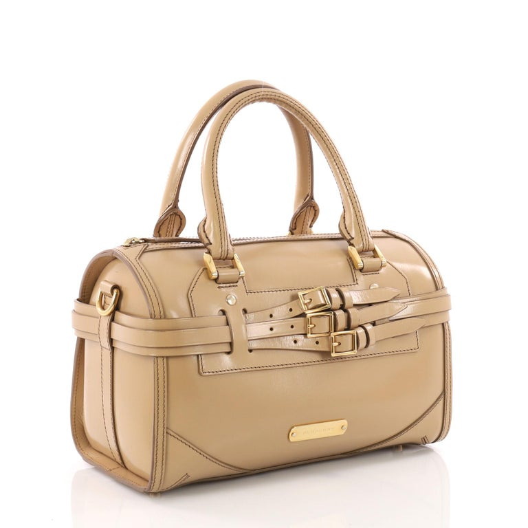 154473b6a58f Burberry Bridle Chester Convertible Bowler Bag Leather Medium at 1stdibs