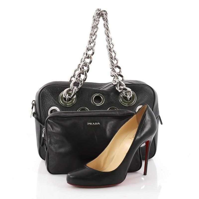 b53070cff15 ... amazon this authentic prada grommet chain shoulder bag vitello daino  medium is a gorgeous shoulder bag