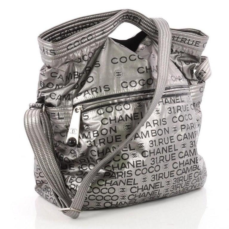 Gray Chanel Unlimited Messenger Bag Nylon Large For Sale 8635489684771