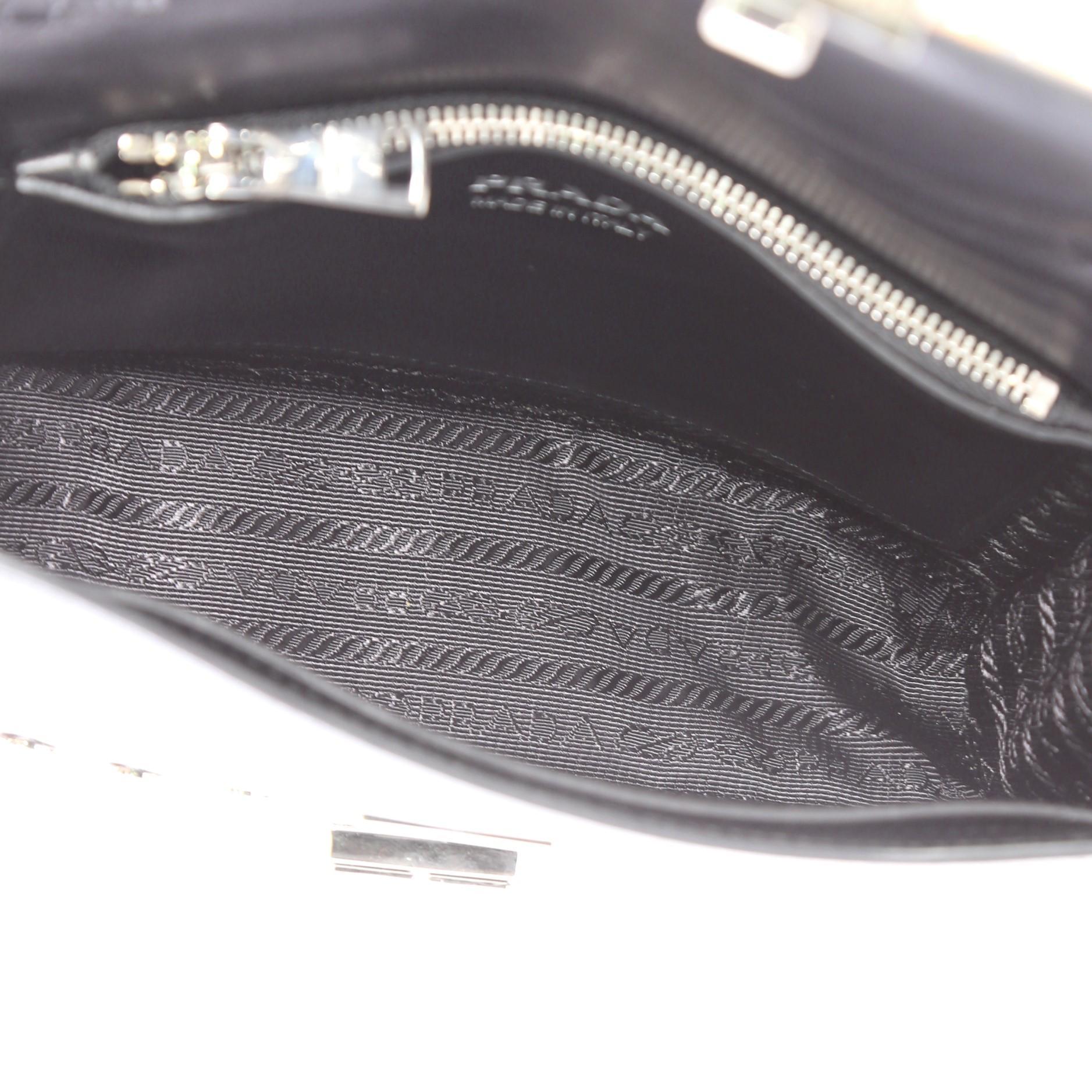 7b3ab6515e30 Prada Elektra Small Studded Printed Leather Shoulder Bag at 1stdibs