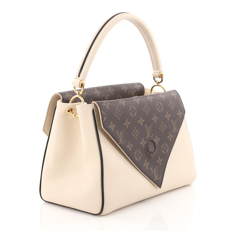 050e13a06344 Louis Vuitton Double V Handbag Calfskin and Monogram Canvas at 1stdibs